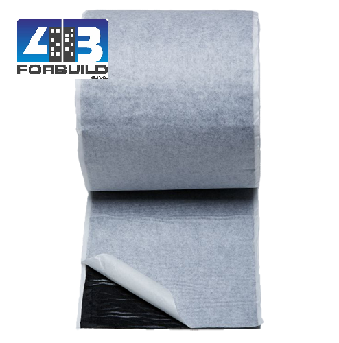 FORTAPE Butyl fleece 75mm / 20bm ( hr.1,5mm )